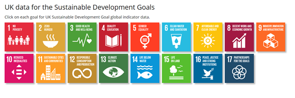Image shows each of the 17 Sustainable Development Goals