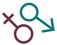 Gender symbols, male and female